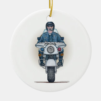 Police Motorcycle Ornament