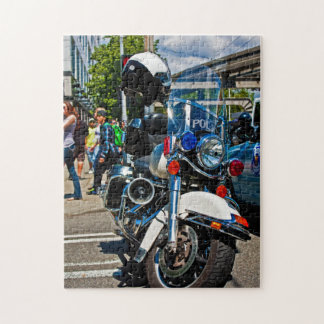 Police Motorcycle Puzzle