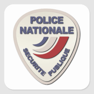 Police Nationale France Police without Text Square Sticker