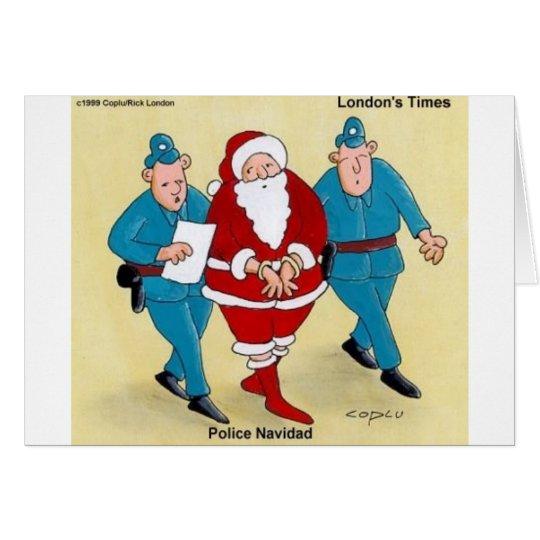 Police Navidad Funny Christmas Gifts & Tees Card