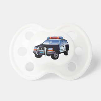 Police Office Design Car Digital Art Destiny Baby Pacifier