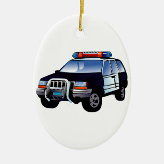 Police Office Design Car Digital Art Destiny Christmas Ornament