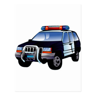 Police Office Design Car Digital Art Destiny Postcard