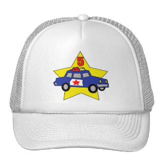 Police Officer 5th Birthday Gifts Cap