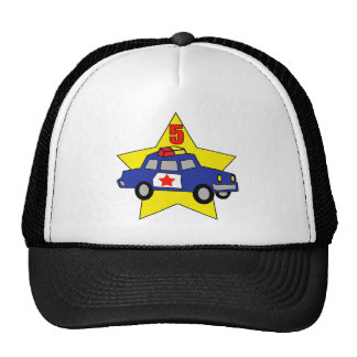 Police Officer 5th Birthday Gifts Mesh Hat