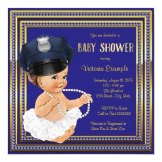 Police Officer Baby Girl Shower Card