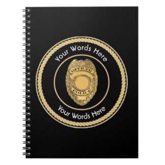 Police Officer Badge Universal Notebooks