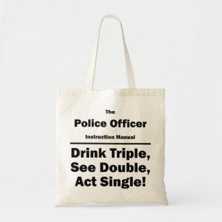 police officer canvas bag