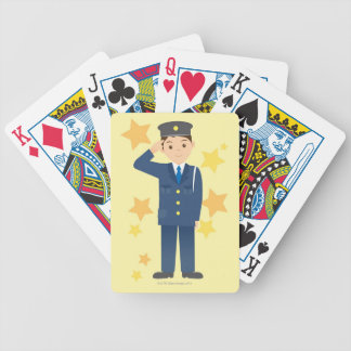 Police Officer Bicycle Playing Cards