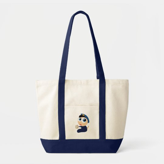 Police Officer Cartoon Tote Bag