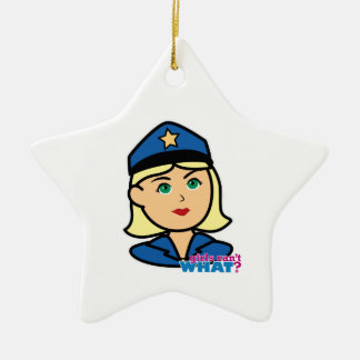 Police Officer Ceramic Star Decoration