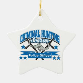 Police Officer Criminal Hunting Season Ceramic Star Decoration