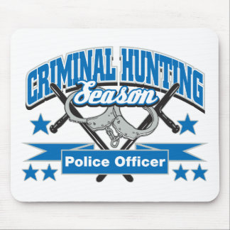 Police Officer Criminal Hunting Season Mouse Pads
