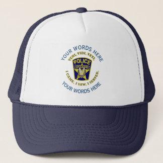 Police Officer Custom Trucker Hat
