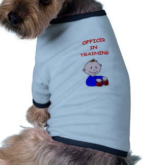 police officer doggie tee