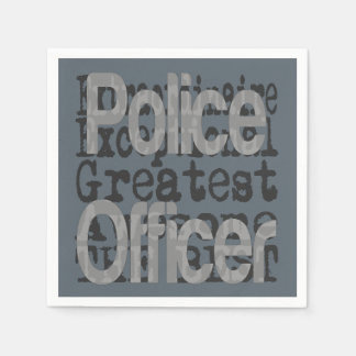 Police Officer Extraordinaire Disposable Napkin