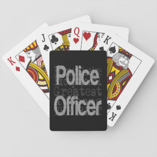 Police Officer Extraordinaire Playing Cards