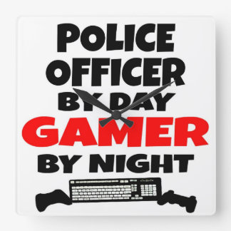 Police Officer Gamer Wall Clock