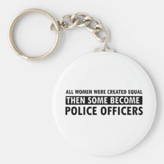 Police Officer Gift Items Basic Round Button Key Ring