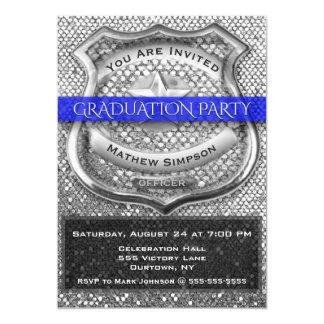 Police Officer Graduation Invitation