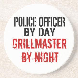Police Officer Grillmaster Coaster