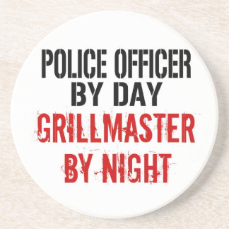Police Officer Grillmaster Coasters