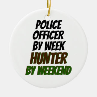 Police Officer Hunter Christmas Ornament
