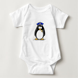 Police Officer Penguin Baby Bodysuit