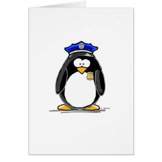 Police Officer Penguin Card