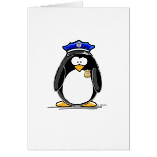 Police Officer Penguin Greeting Card