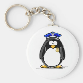 Police Officer Penguin Key Ring