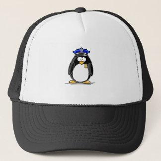 Police Officer Penguin Trucker Hat