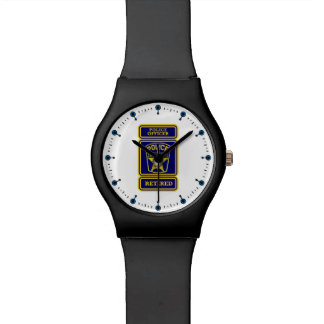 Police Officer Retired Badge Wristwatch
