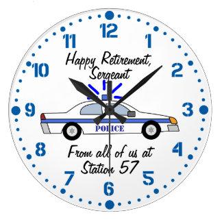 Police Officer Retirement Gift Custom Name Clock