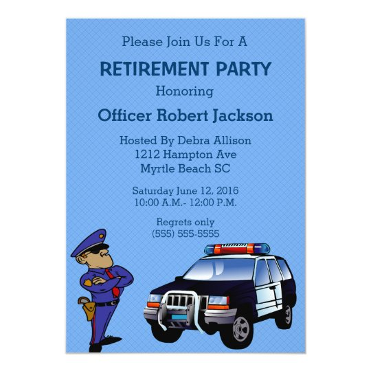Police Officer Retirement Invitation