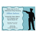 Police Officer Retirement Invitation 13 Cm X 18 Cm Invitation Card