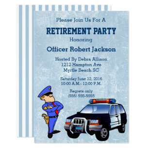 Police Officer Retirement Flyer Coolhd Today