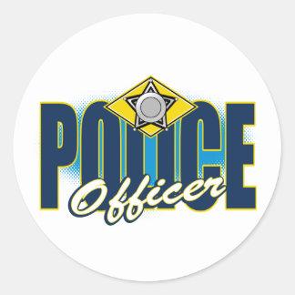Police Officer Round Sticker
