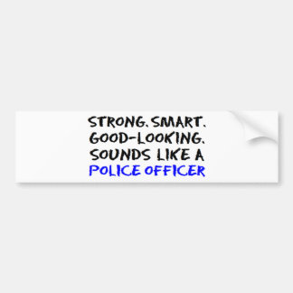 Police officer sound car bumper sticker