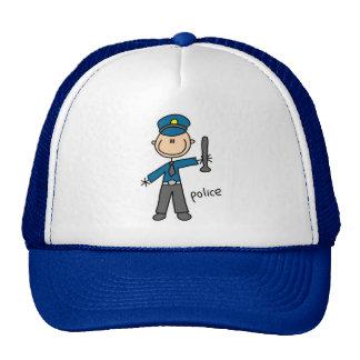 Police Officer Stick Figure Cap
