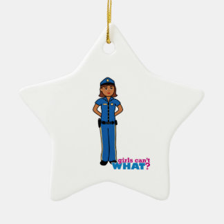 Police Officer Woman Ceramic Star Decoration