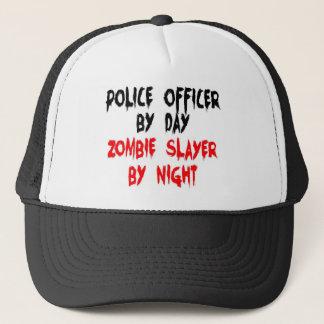 Police Officer Zombie Slayer Trucker Hat