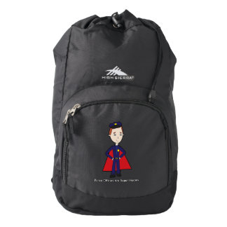Police Officers Are Super Heroes (Male) Backpack