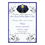 "Police Officers' Ball Custom Front/Back RSVP Cards 3.5"" X 5"" Invitation Card"