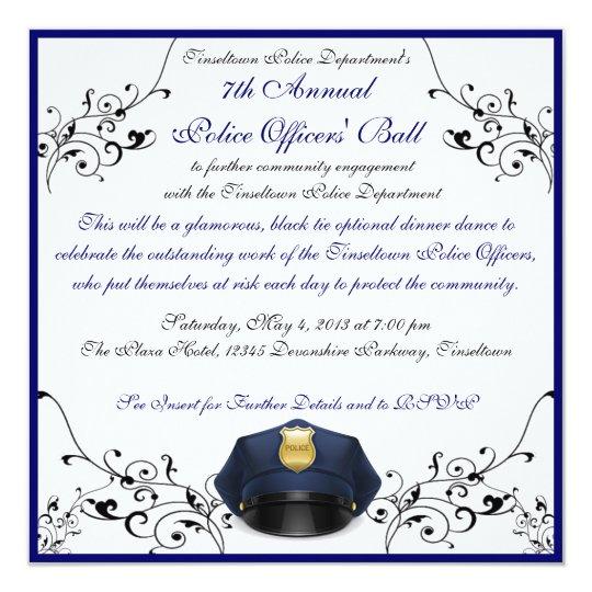 Police Officers' Ball Custom Invitations
