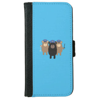 Police Officers bear squad Q1Q iPhone 6 Wallet Case