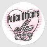 Police Officers Mum Round Stickers