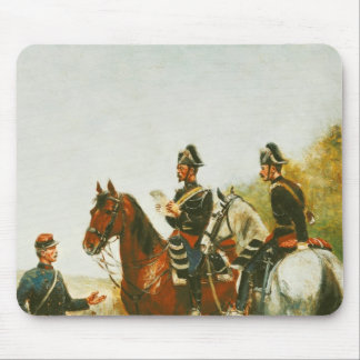 Police Officers on an Inspection Tour Mouse Mat