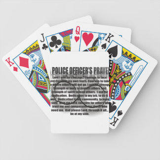 POLICE OFFICERS PRAYER BICYCLE PLAYING CARDS