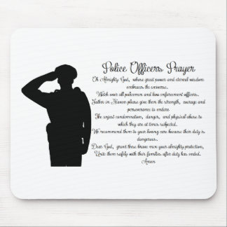 Police Officers Prayer Mouse Mat